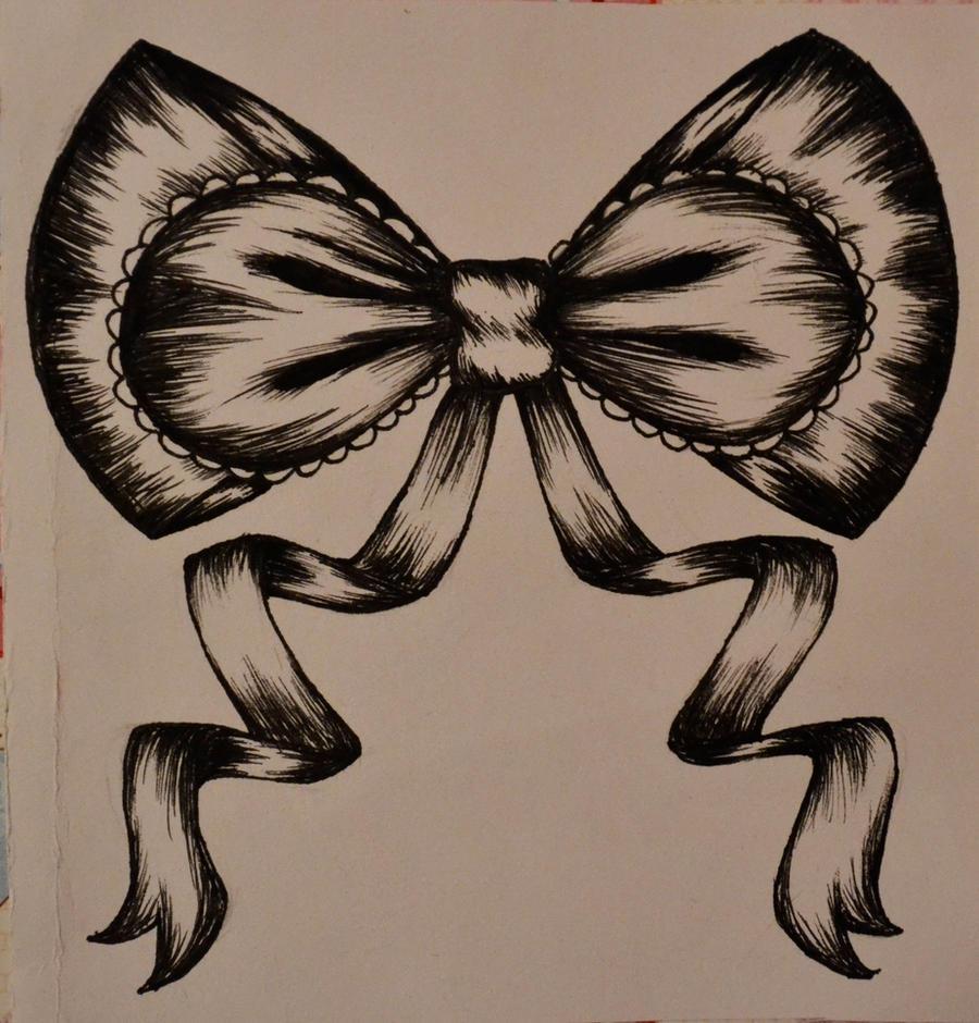 1995 Tattoo Design: Ribbon Bow Tattoo Design By Tsuki-no-Usagi-1995 On DeviantArt