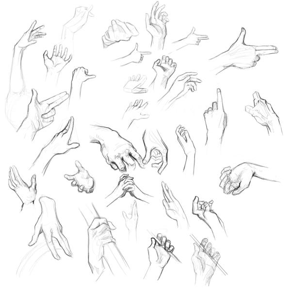 Hands practice by KindCoffee