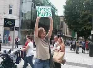 Free Hugs at Cardiff 02.08.11