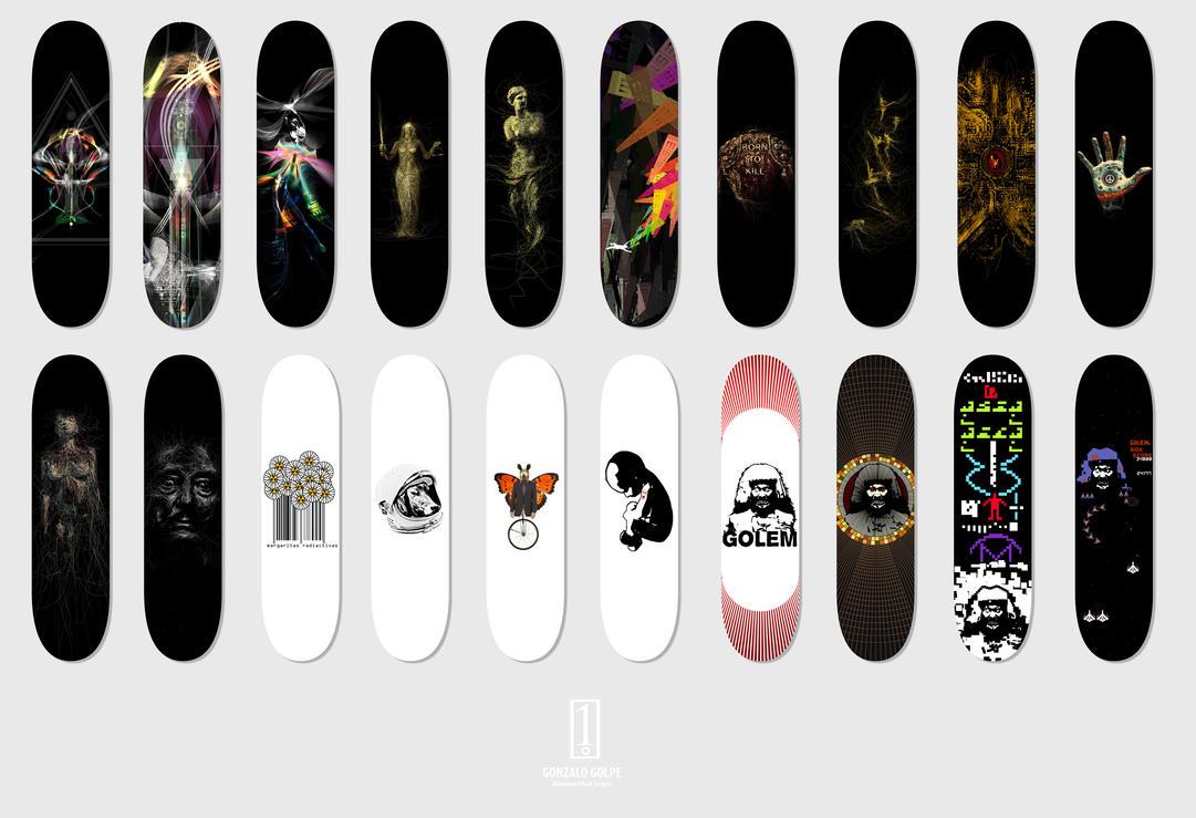 skateboard decks design by golpeart