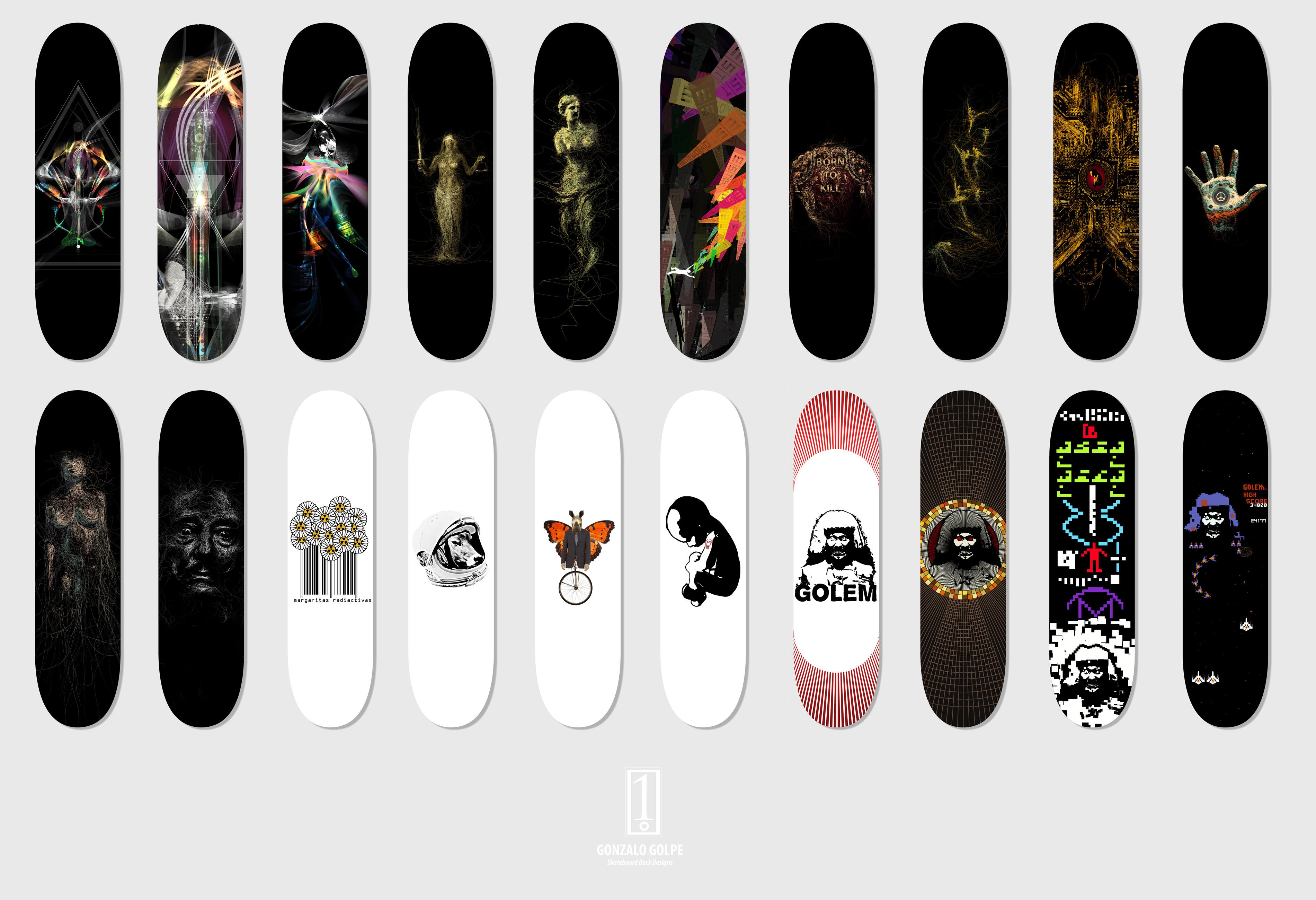 skateboard decks design by golpeart on deviantart