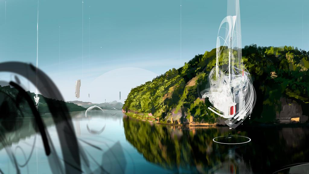 Alien Landscape by GolpeArt