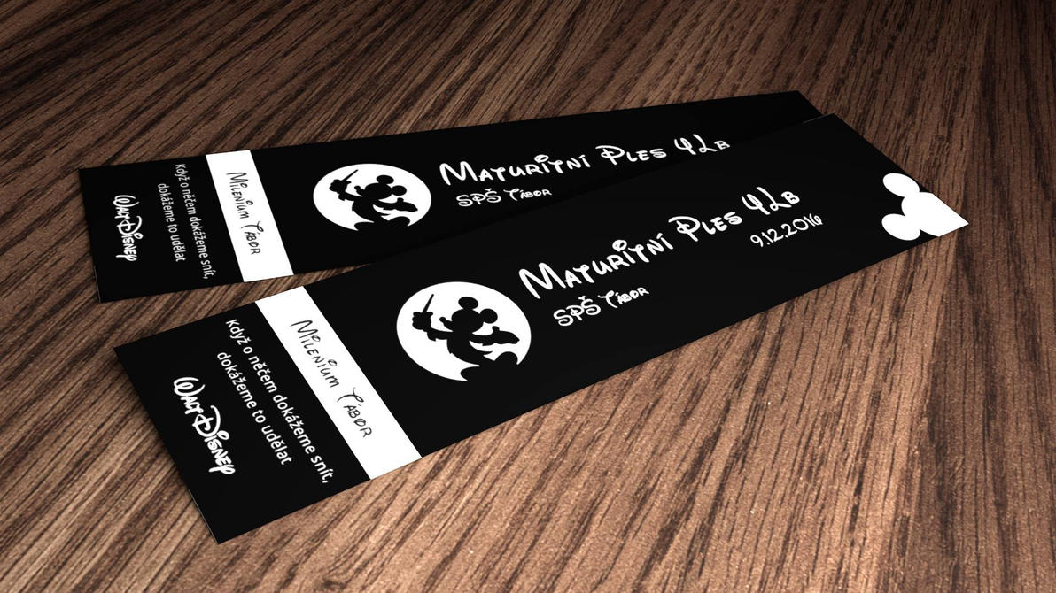 Captivating Disney Prom Tickets By MatthewKautzky ... Inside Prom Tickets Design