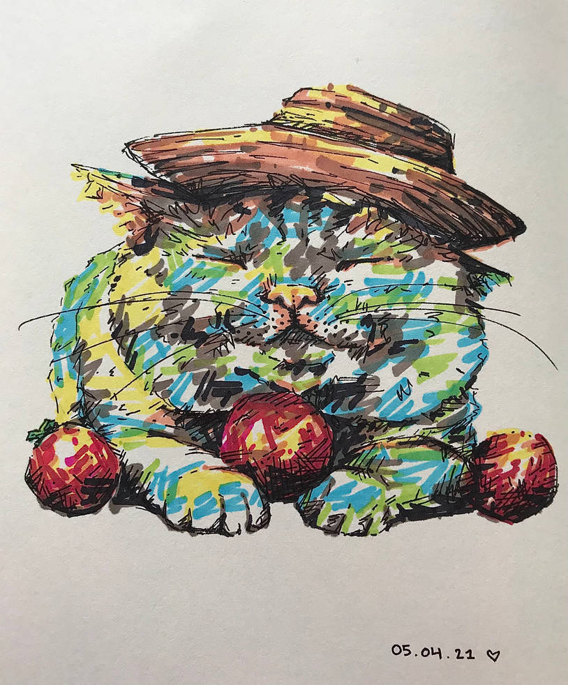 Farmer kitty