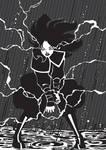 Azula Lightning - Black and White
