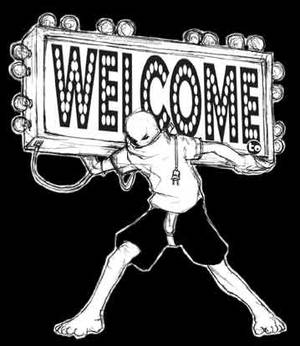 Me giving a welcome..