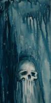 blue skull by bizartspot