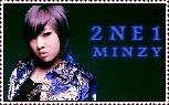 minzy from 2ne1 stamp by AnaInTheStars
