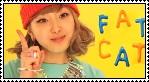 Korean singer fat cat stamp by AnaInTheStars