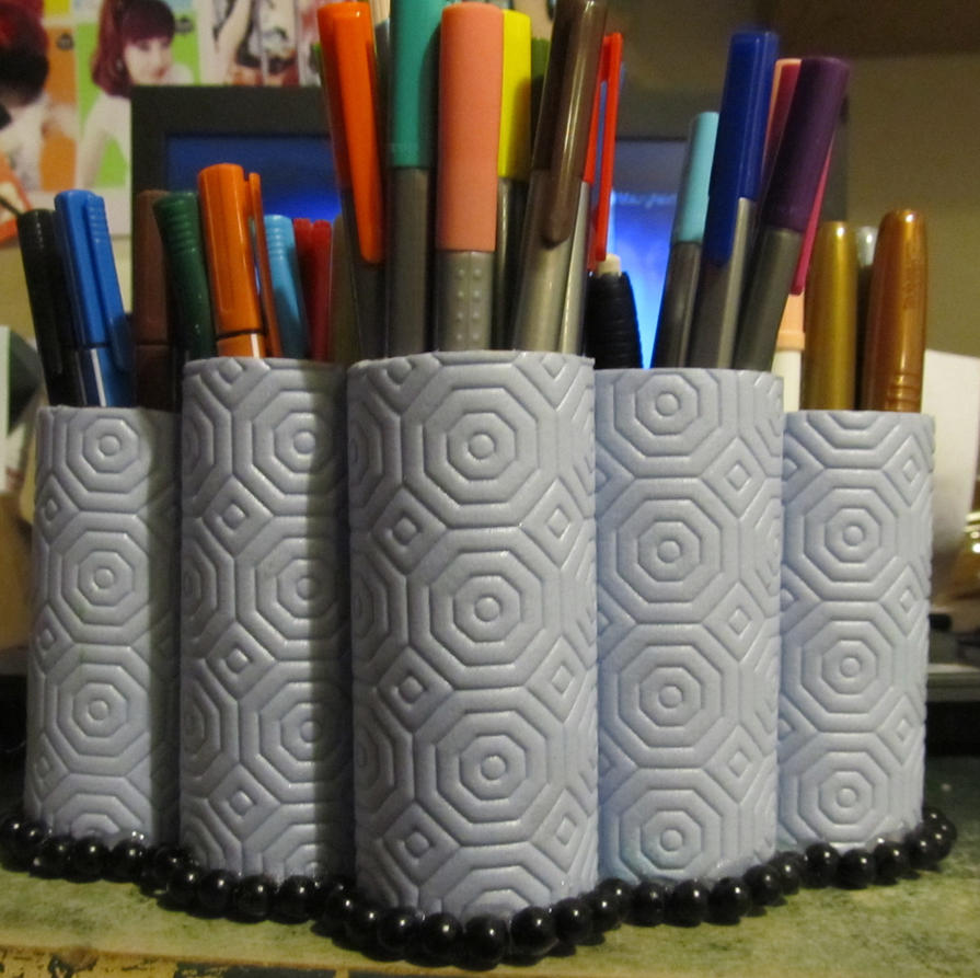 handmade and recycle marker pot holders by AnaInTheStars