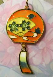 asian flower fan wind chime pendant by AnaInTheStars