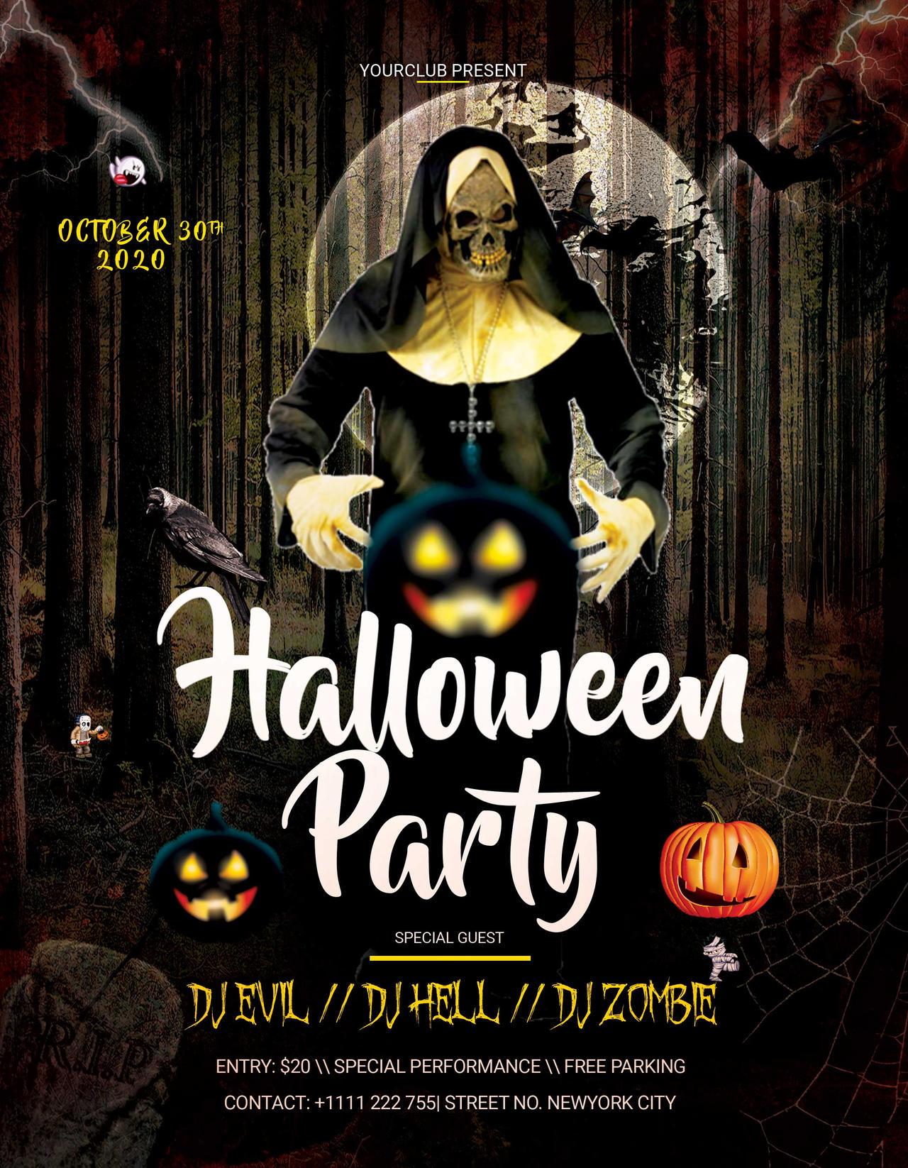 Halloween Party Flyer 2020 Halloween Party PSD Flyer Free Templates by StudioFlyers on DeviantArt