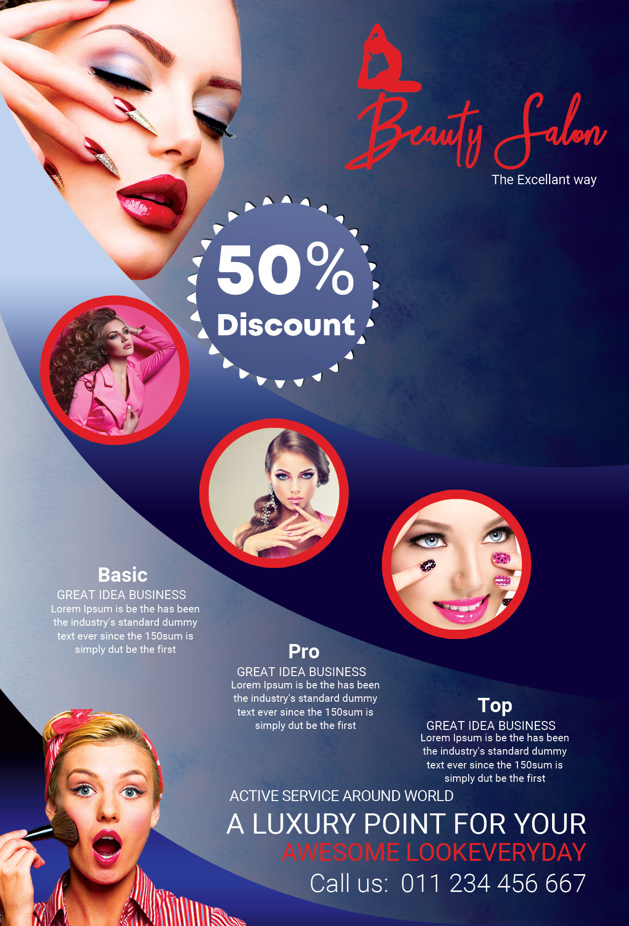 Makeup Beauty Salon Free Psd Flyer Template By Studioflyers On Deviantart