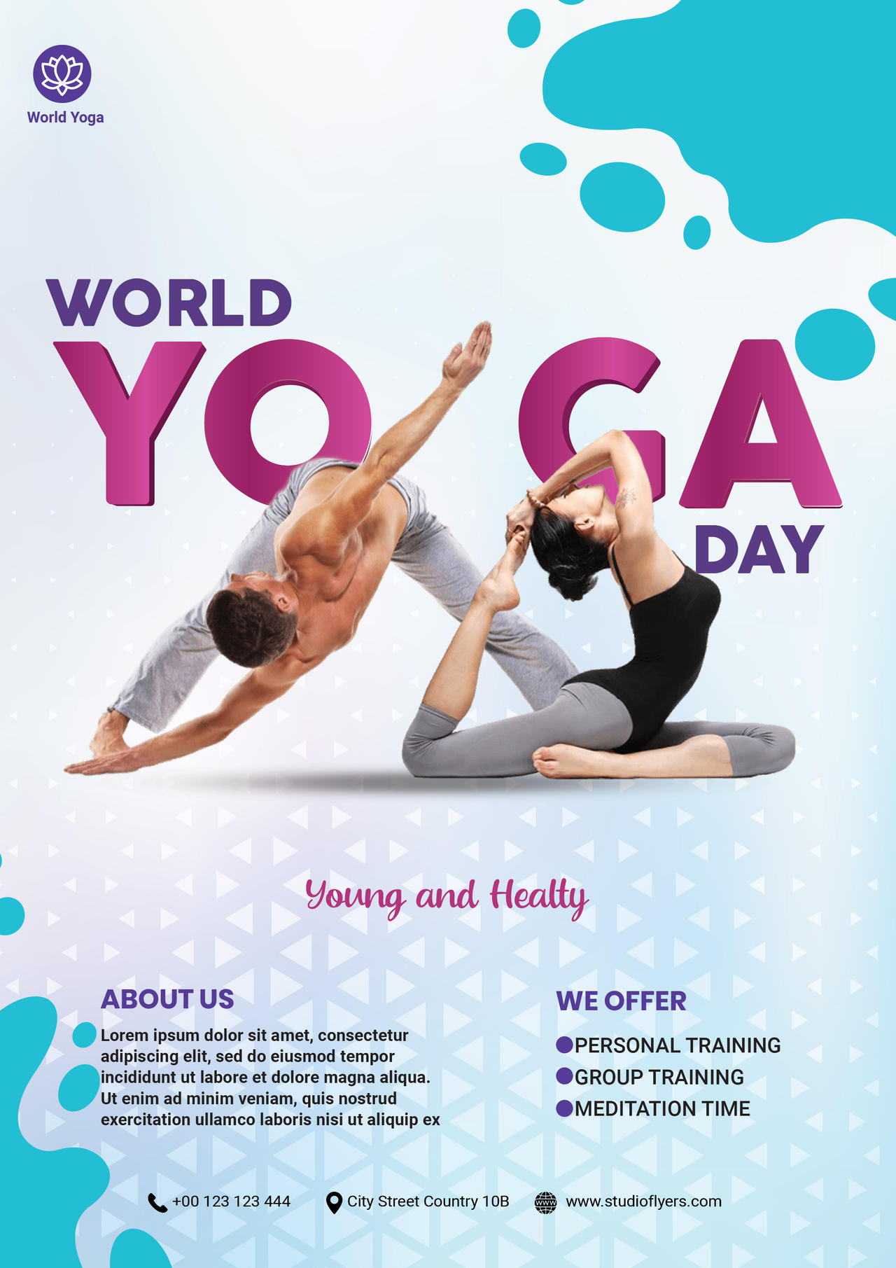 World Yoga Day Free Psd Flyer Template By Studioflyers On Deviantart