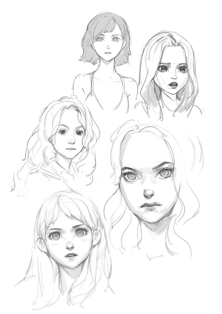 5 Dec '16 - Study Sketches by Lumilonium