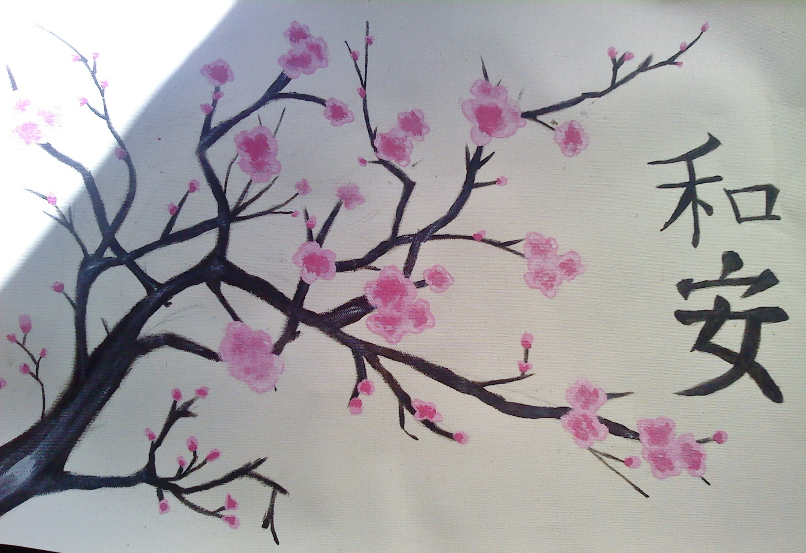 Sakura painting by xxnaomi lukarixx on deviantart for Simple cherry blossom painting
