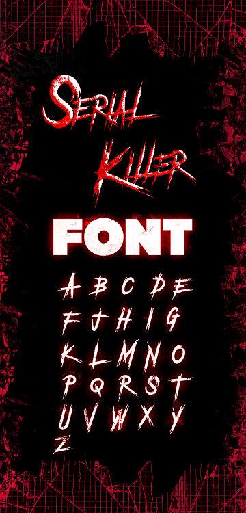 serial killer font 2019