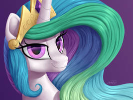 Princess Celestia by LavenderHeartsMLP