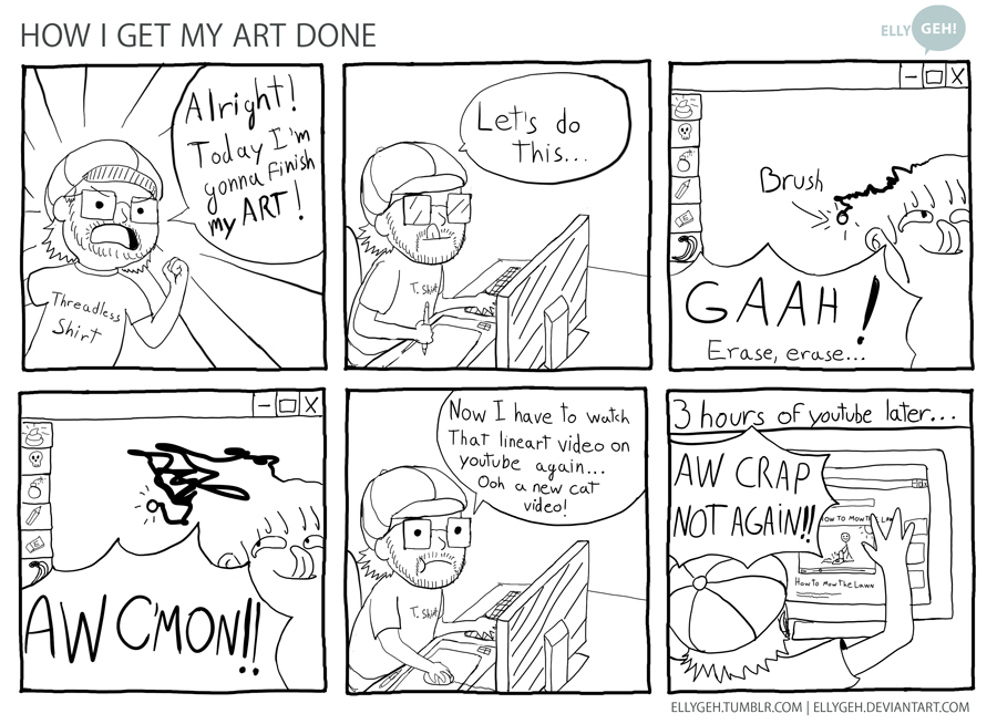 How I get my Art done by Ellygeh