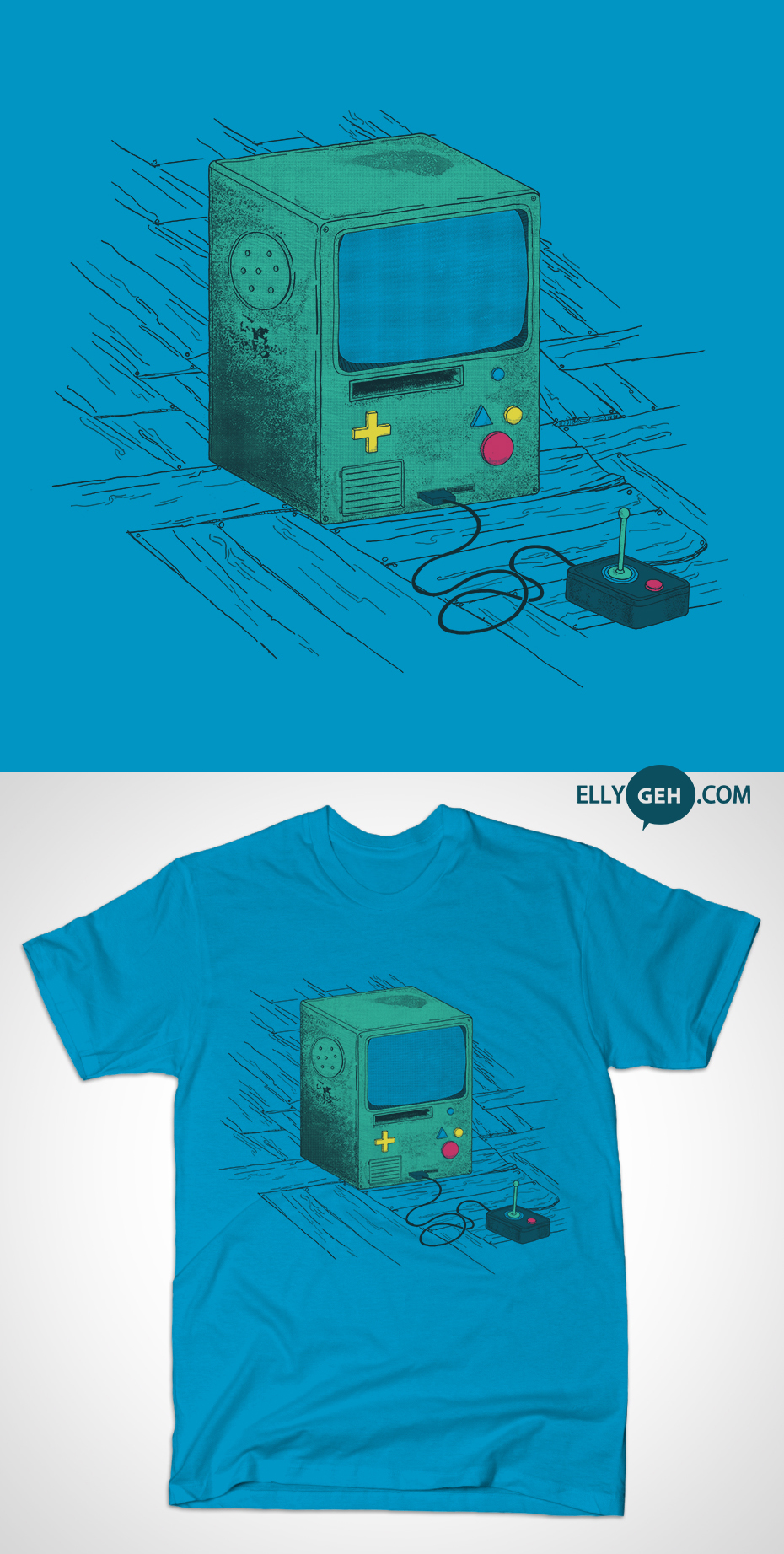OLD CONSOLE - SHIRT ON TEEPUBLIC! by Ellygeh