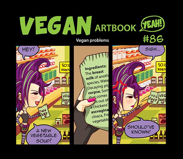 Comic #86: Vegan problems by veganartbook