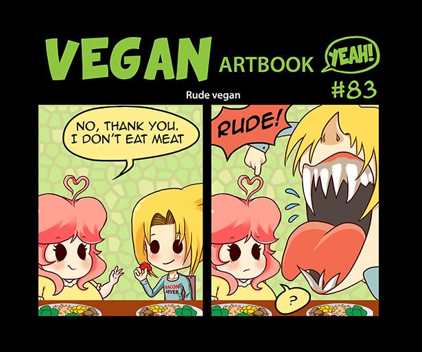 Comic #83: Rude vegan by veganartbook