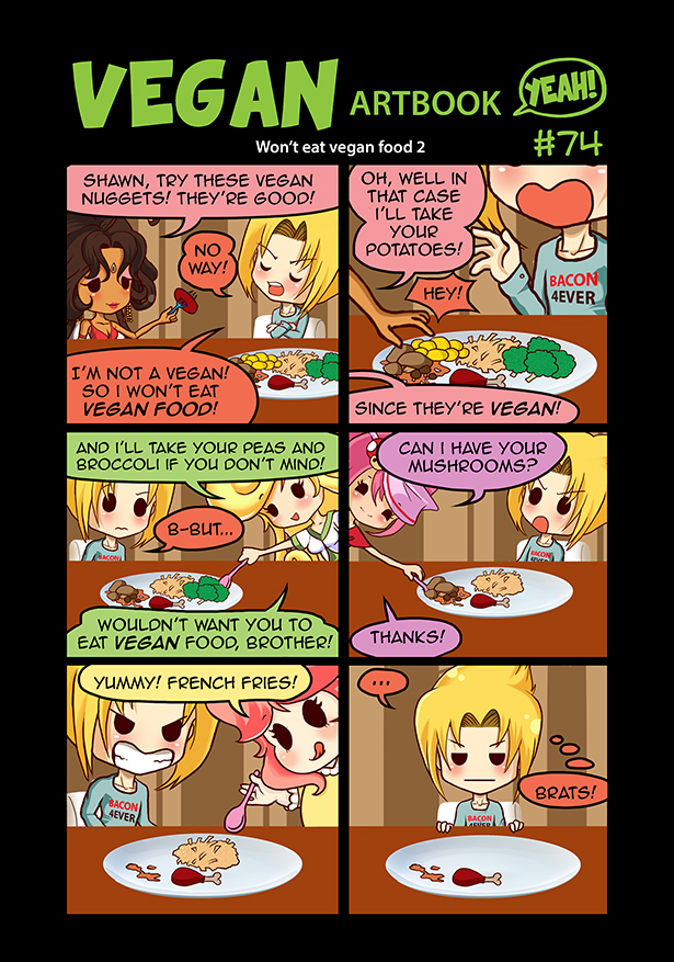 Won't eat vegan food by Pupavegan