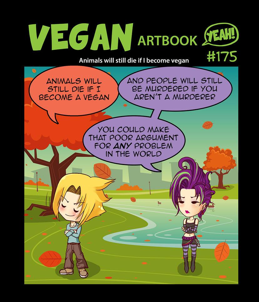 Animals will still die if I become vegan by veganartbook