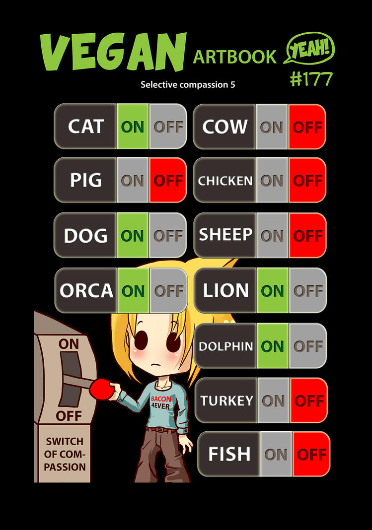 Selective Compassion Switch by veganartbook