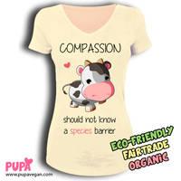 Vegan Compassion t-shirt - Cow design by Pupaveg