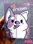 Sticker - No difference by Pupaveg