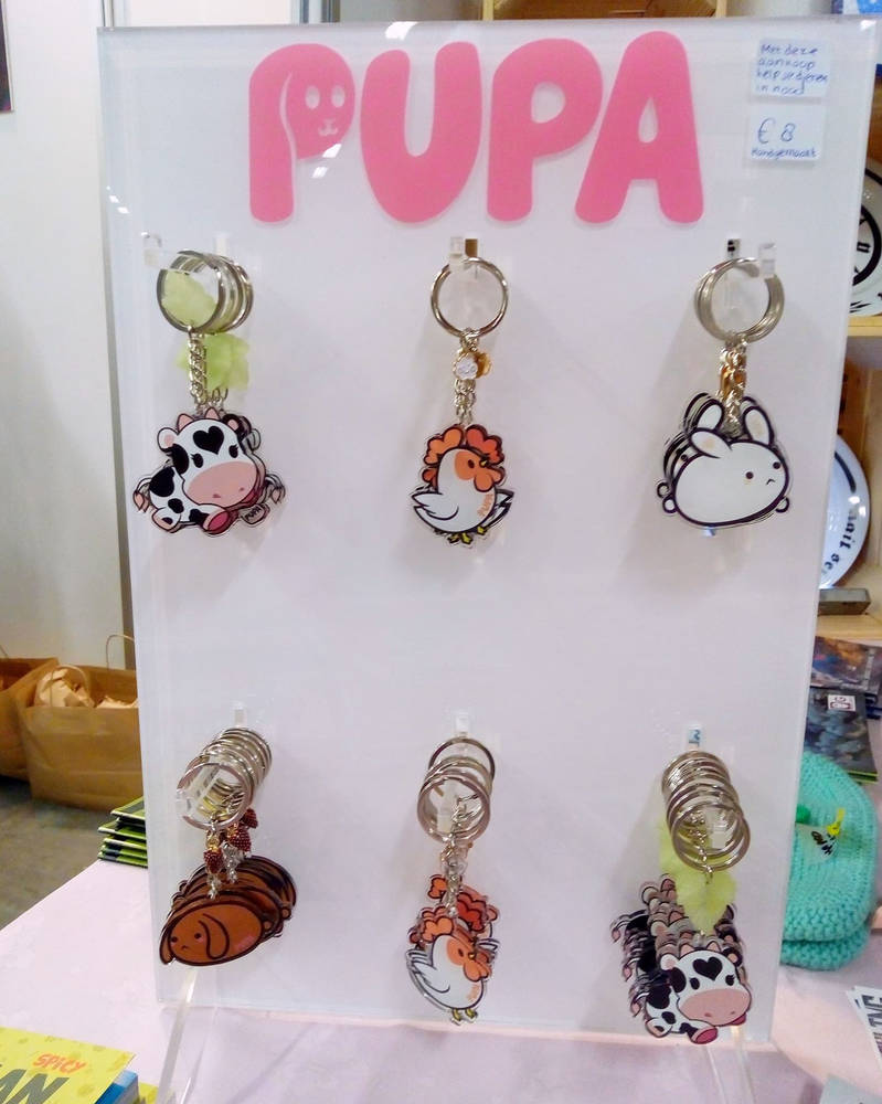 Charity keychain collection - handmade by Pupaveg