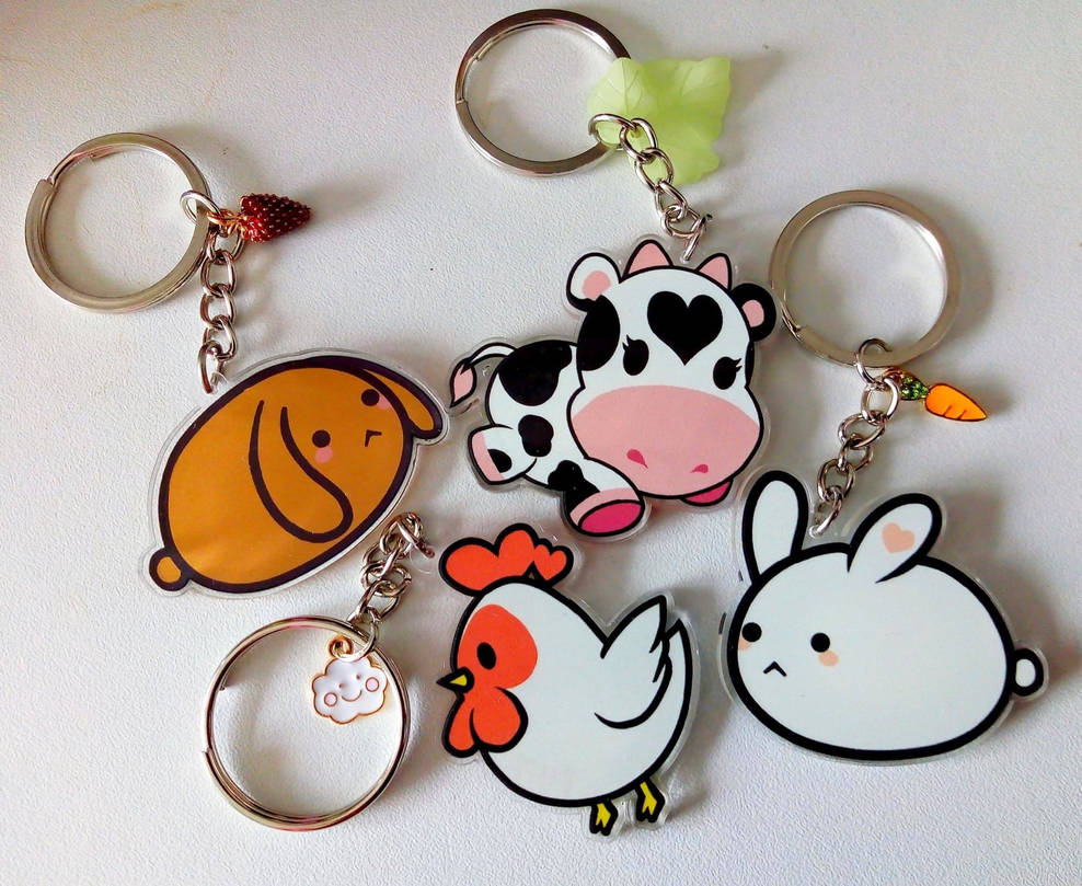 Pupa animal charity keychains - series 1 by Pupaveg