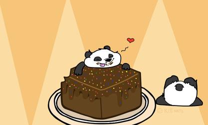 Panda love cakes!! by Squishykitt