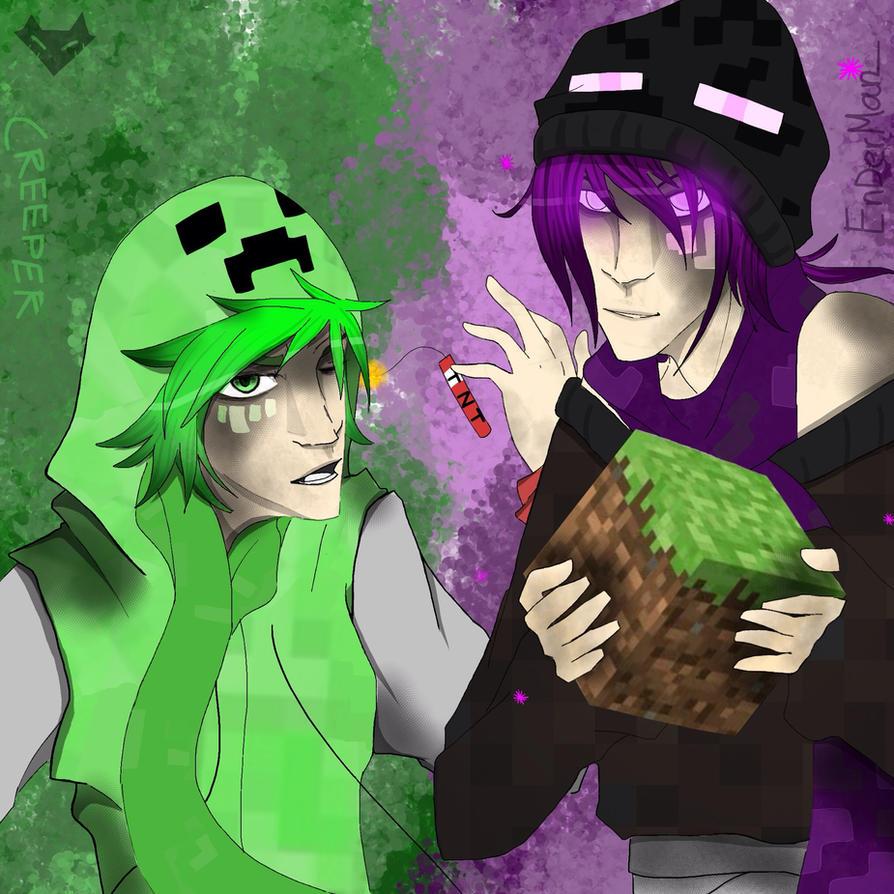 Enderman And Creeper Minecraft By Squishykitt On DeviantArt