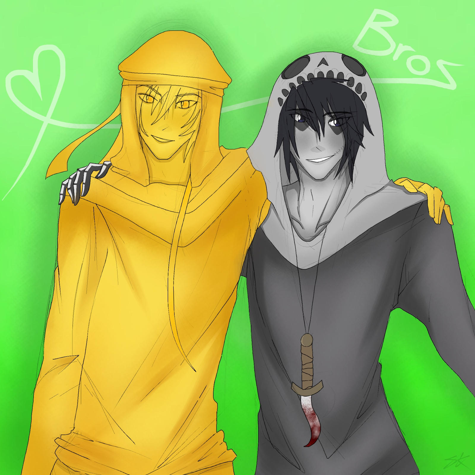 Yaoi Hair Pulling Stephano And Skully Broz Request By Squishykitt Dnhyy
