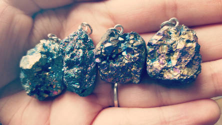 Druzy Necklaces by kiran-freak