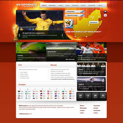 Worldcup Information website by PaulNLD