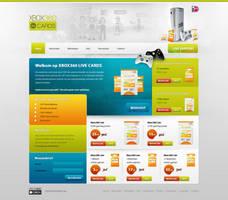 XBOX360LIVE Shop design by PaulNLD
