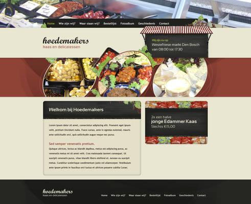 Market stall holder webdesign