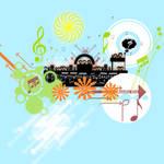 Vector art : theme music