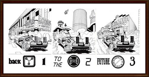 Back to the Future - Triple Poster by WillyRead