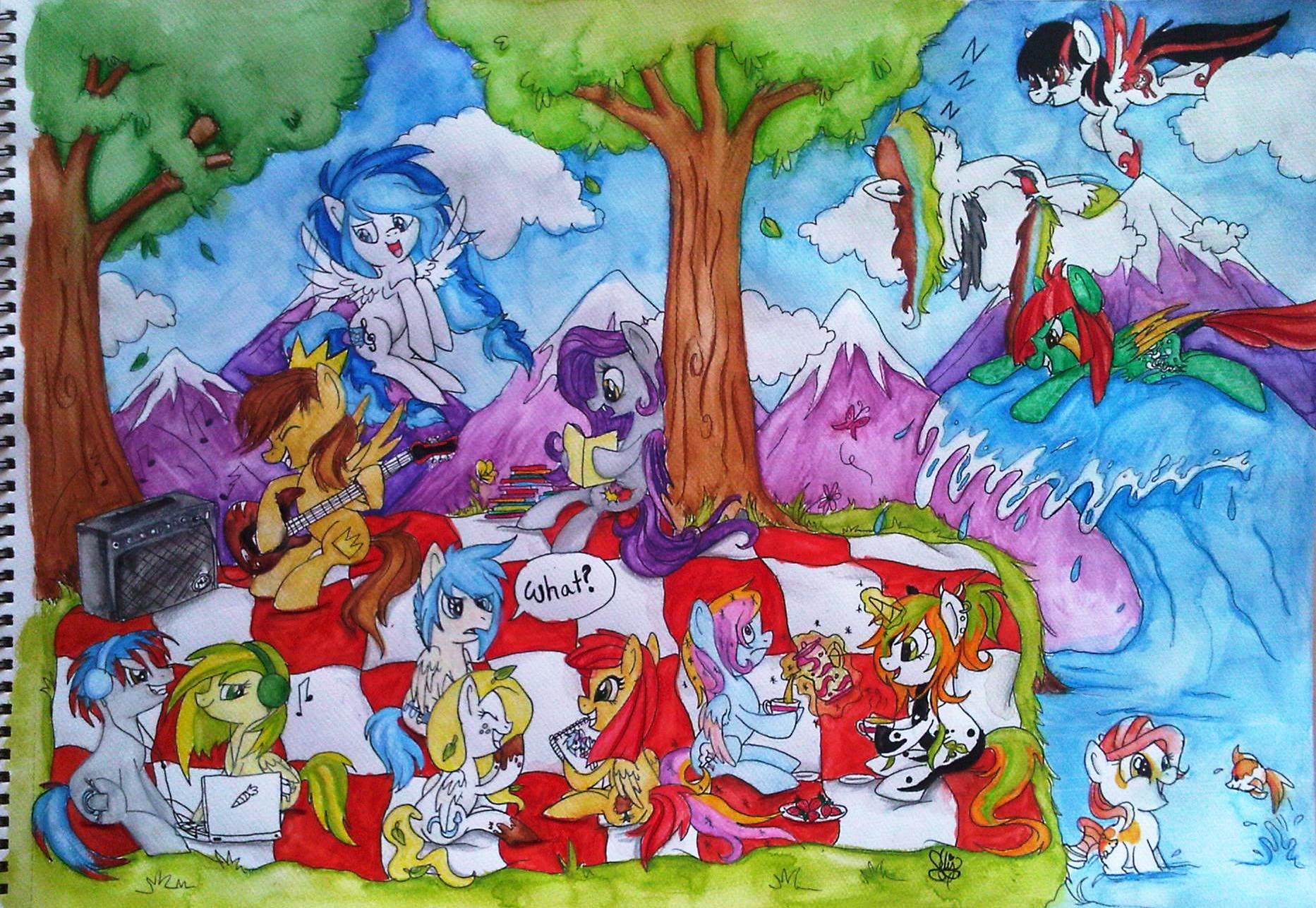Some Ponies I Know by demenian