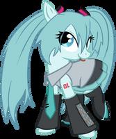Hatsune Miku Pony by 3u4ia