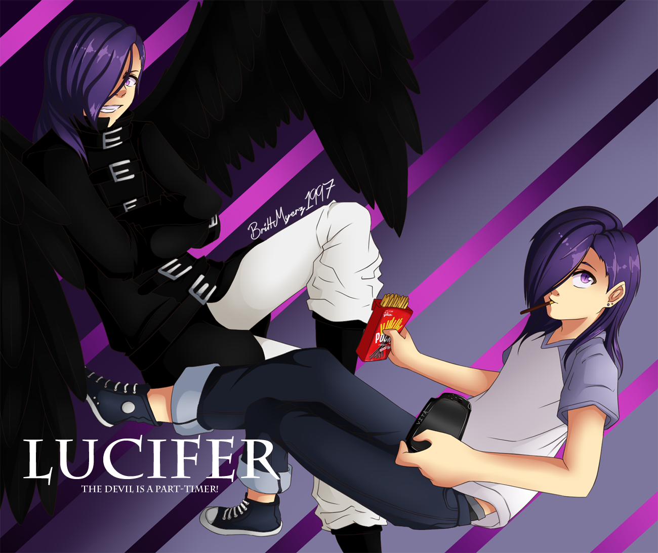 Fanart: The Devil is a Part-Timer!~ Lucifer by Potates-Chan on ...