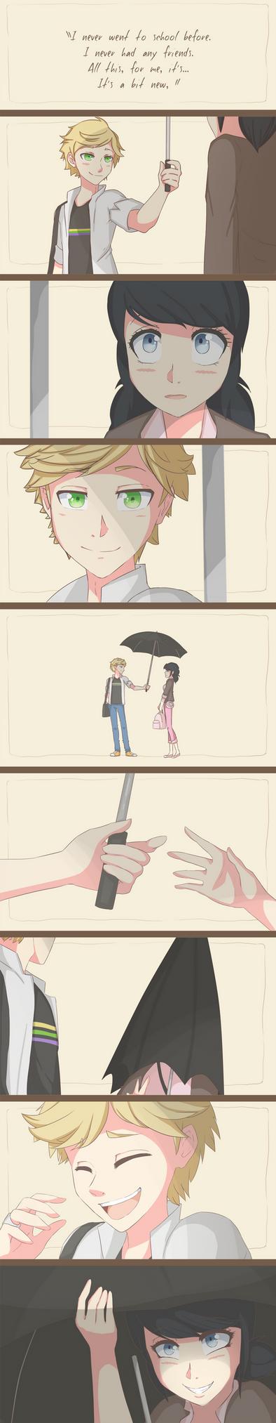 {Miraculous Ladybug} Umbrella Scene by Potates-Chan