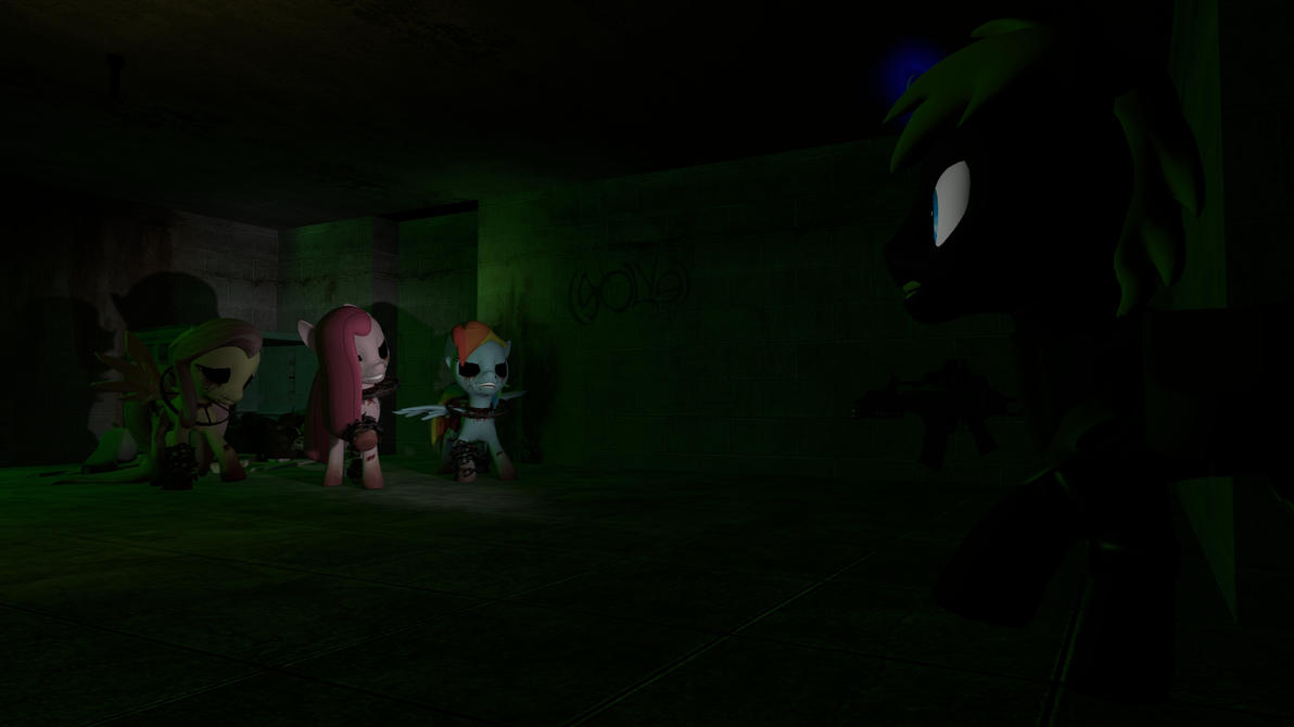 Knight Hoof vs Creepy Gang by Traxx-89
