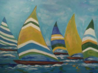 Sailboats by cheryblosom
