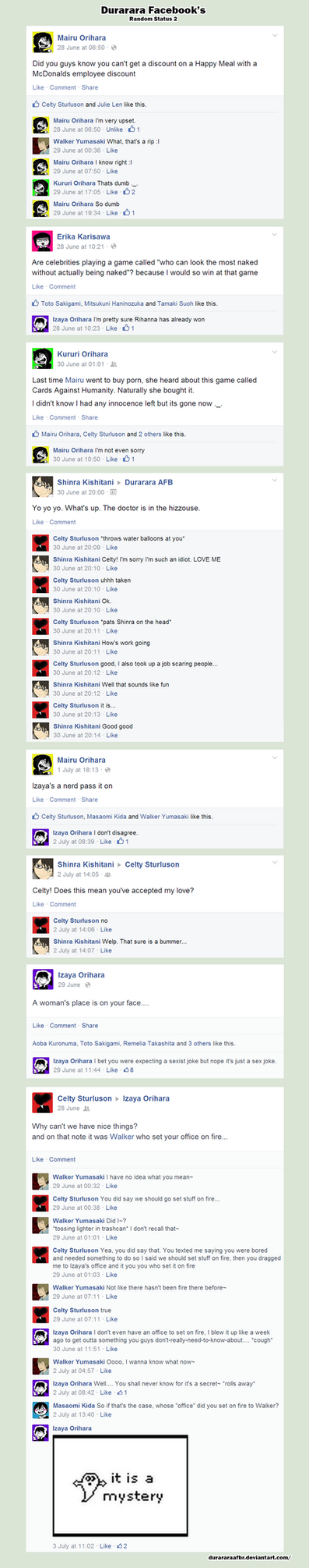 DURRR FB: Random Status [2] by pwinsesducky