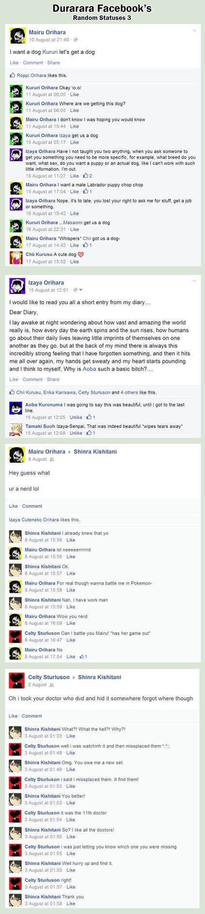 DURRR FB: Random Status [3] by pwinsesducky